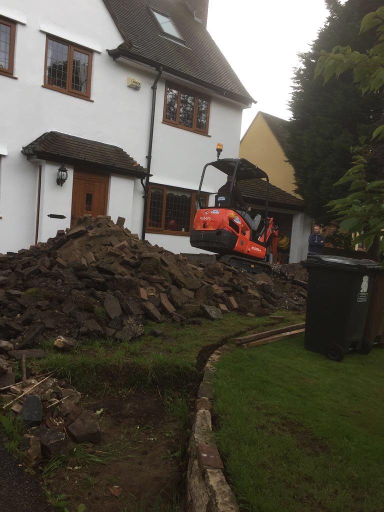 Driveway ground excavation