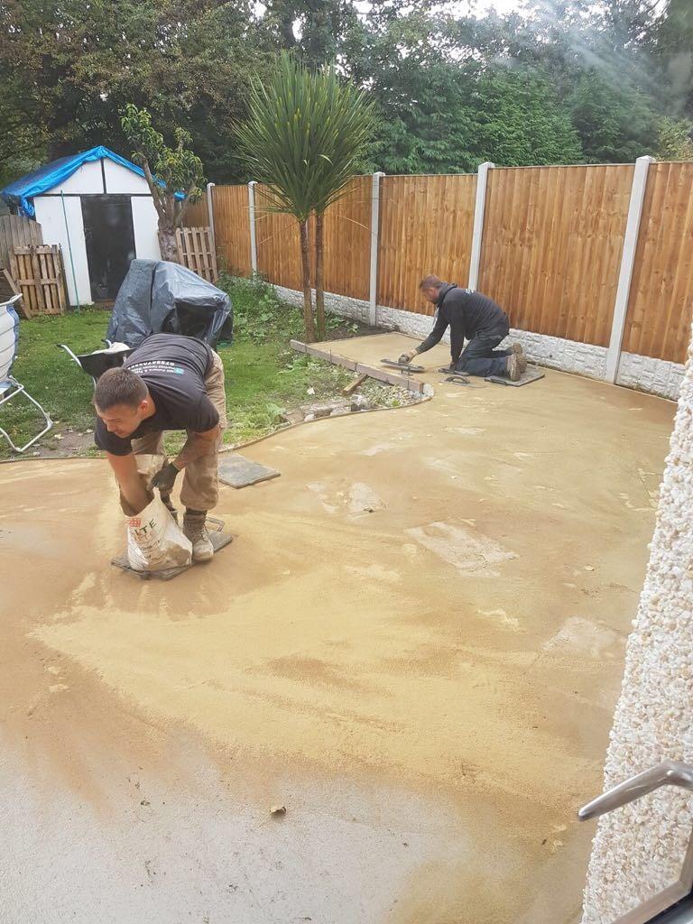 'patio preperation'