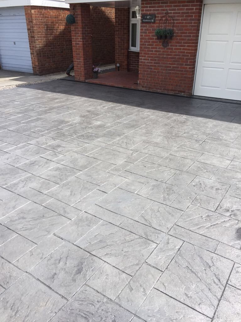 Pattern imprinted concrete-Chester..