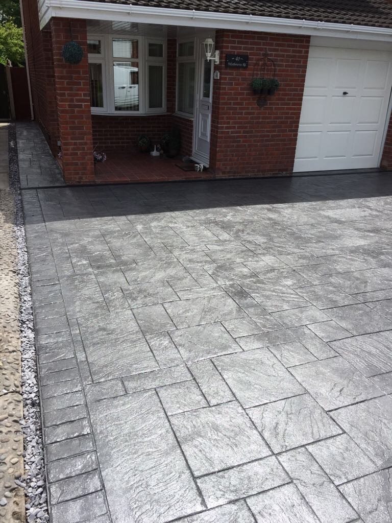 Pattern imprinted concrete-Chester.