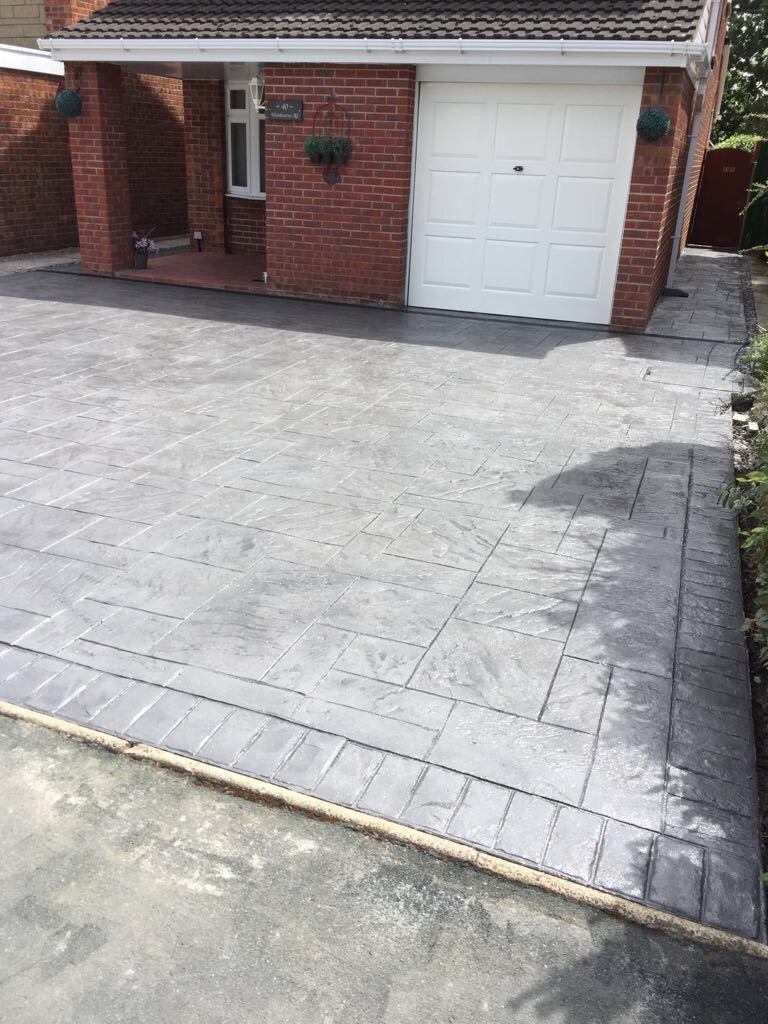 Pattern imprinted concrete-Chester