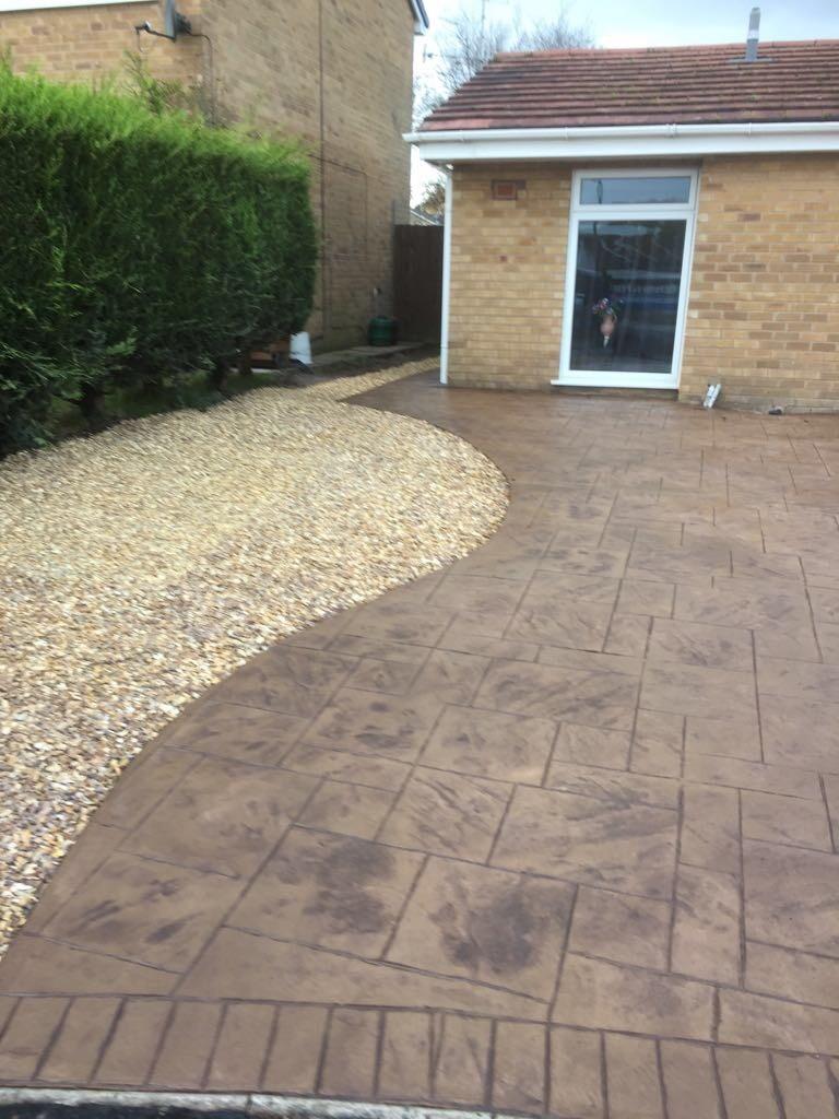 Pattern imprinted driveway- Spital