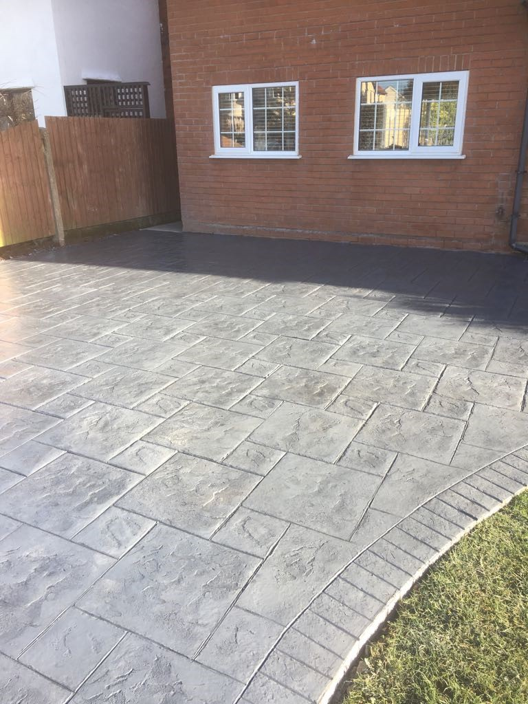 MH Pattern & Print- Pattern imprinted concrete driveway- Meols wirral..