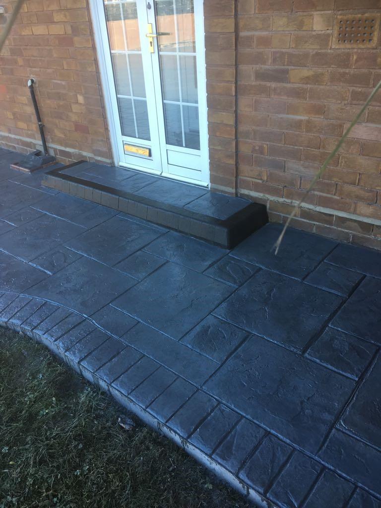 MH Pattern & Print- Pattern imprinted concrete driveway- Meols wirral.