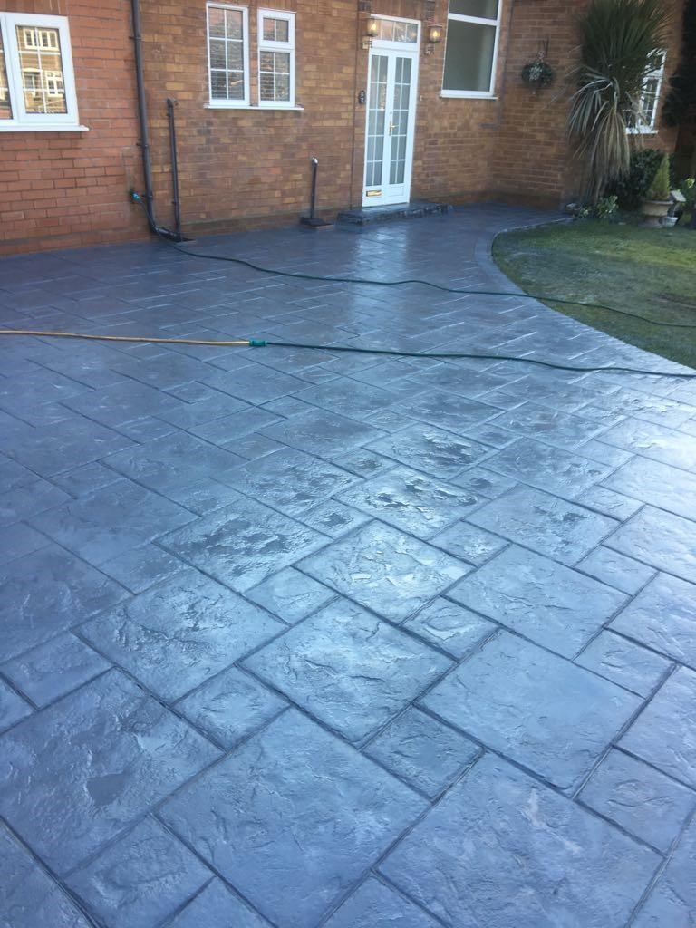 MH Pattern & Print- Pattern imprinted concrete driveway- Meols wirral