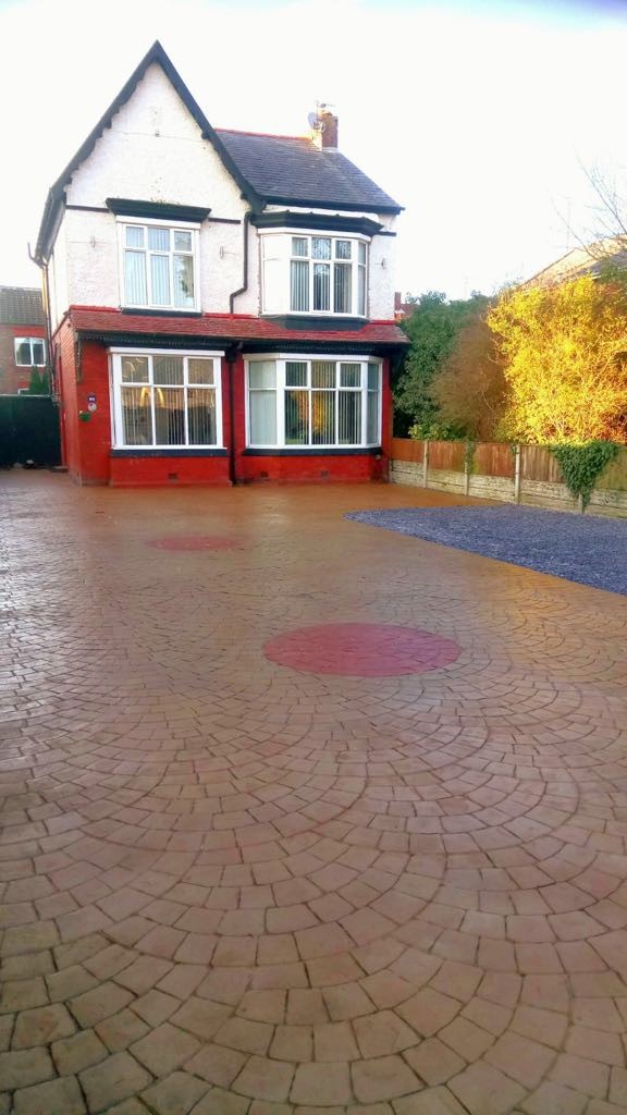 Driveway with printed compass,,