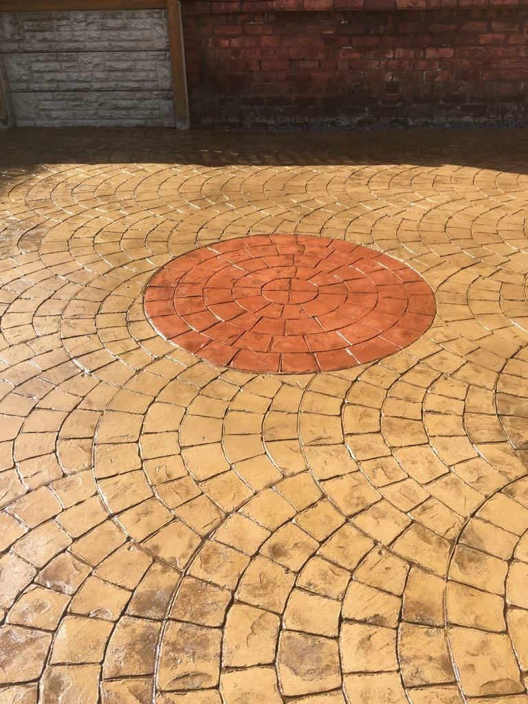 Driveway with printed compass.....