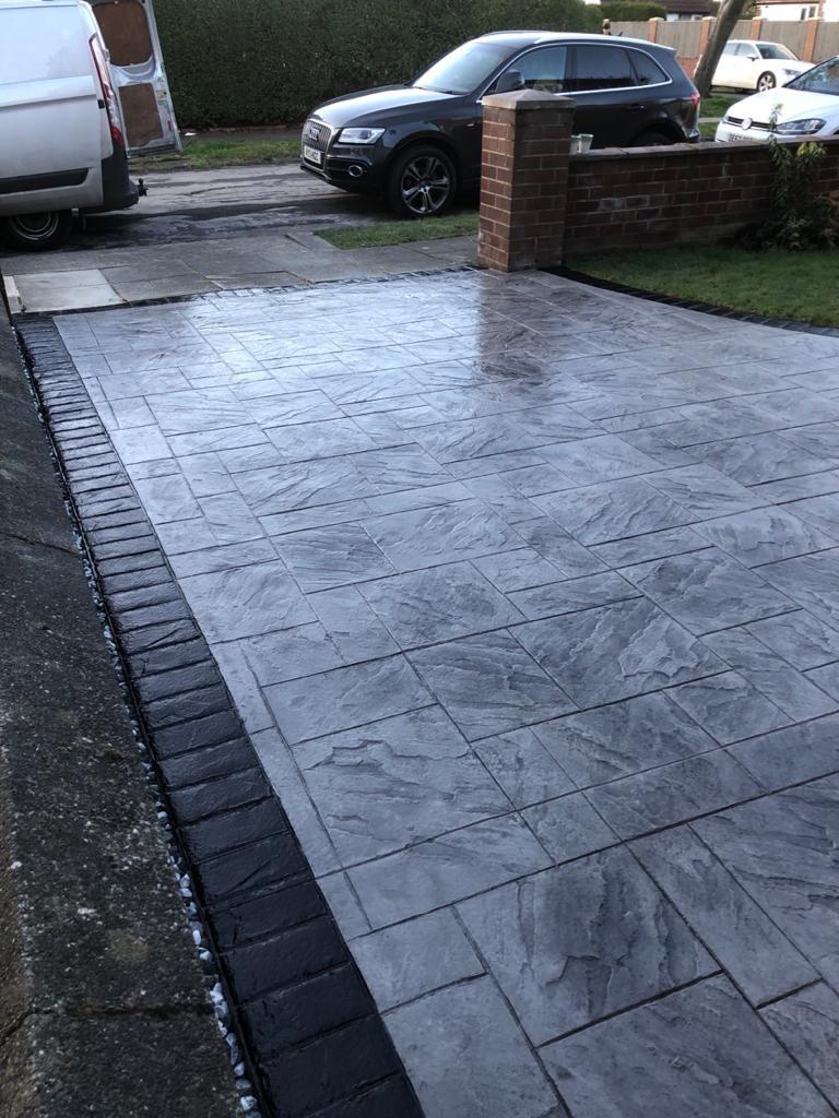 light silver driveway